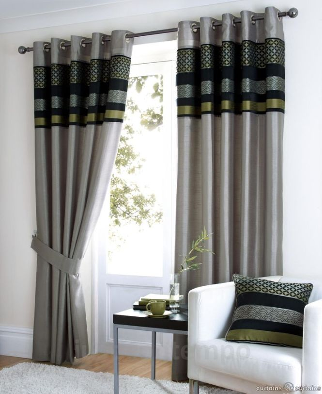 These Luxury Saturn Curtains In Metallic Silver And Green Are Ideal As Bedroom Or Living Room Made With Fully Lined Eyelet Ring Top