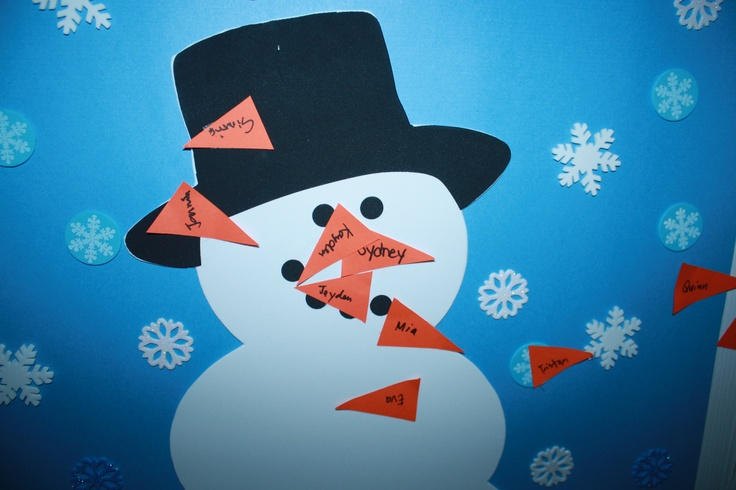 Pin The Carrot Nose On The Snowman Childrens Party Games