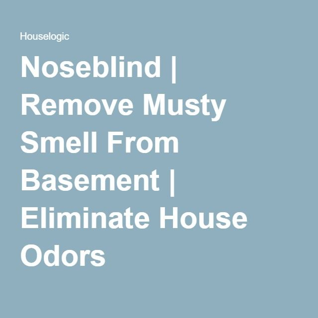Noseblind Remove Musty Smell From Bat Eliminate House Odors