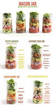 Mason Jar Layered Lunches
