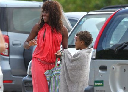 Alexandre Coste With His Mother Nicole Coste Monaco