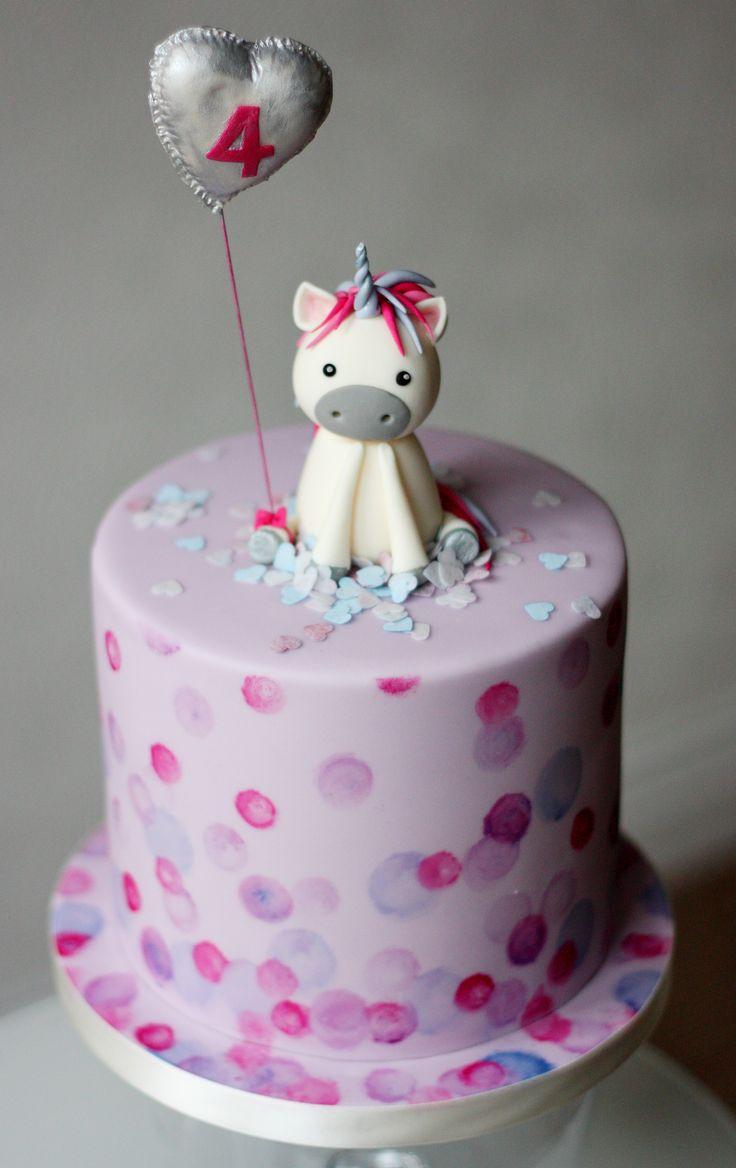 Unicorn Birthday Cake Unicorn Cake Topper Foil Gumpaste