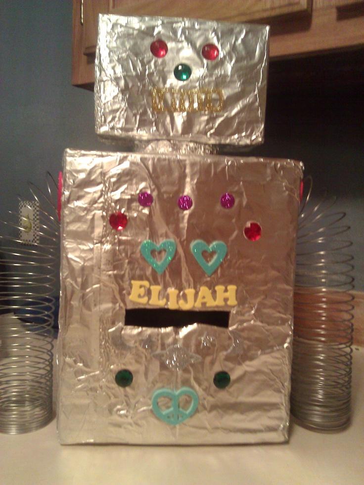 Robot Valentine Box Robot Crafts For Kids Pinterest