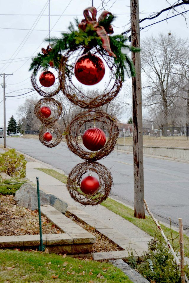 DIY Oversized Outdoor Christmas Decoration / use 3 differ