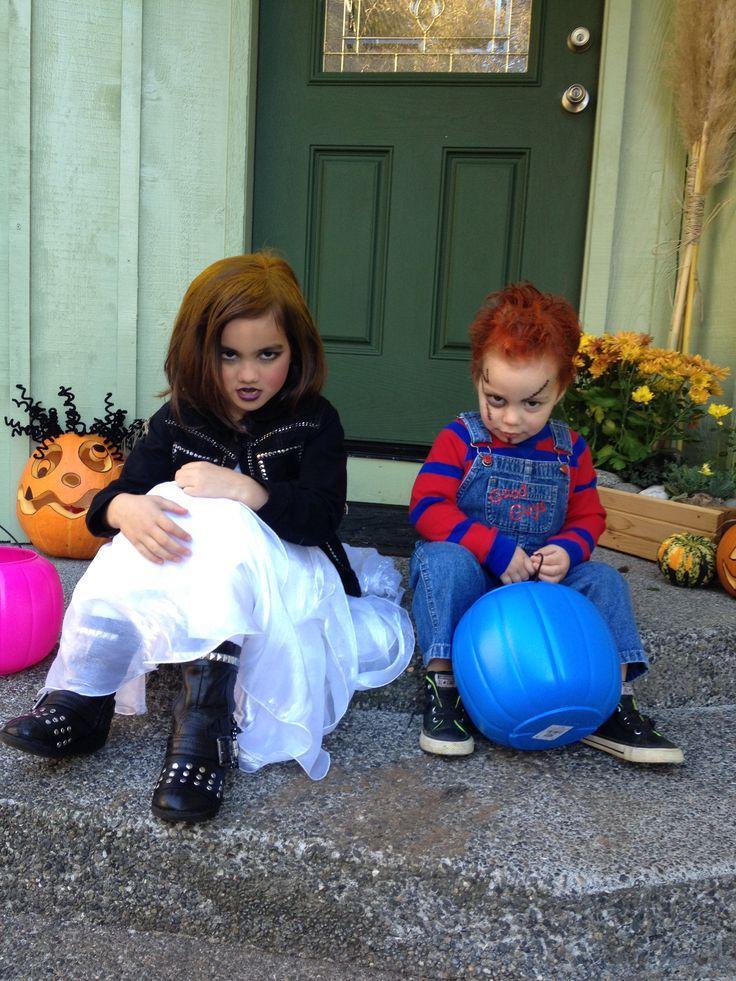 I nailed it!! Chucky and Bride of Chucky Halloween