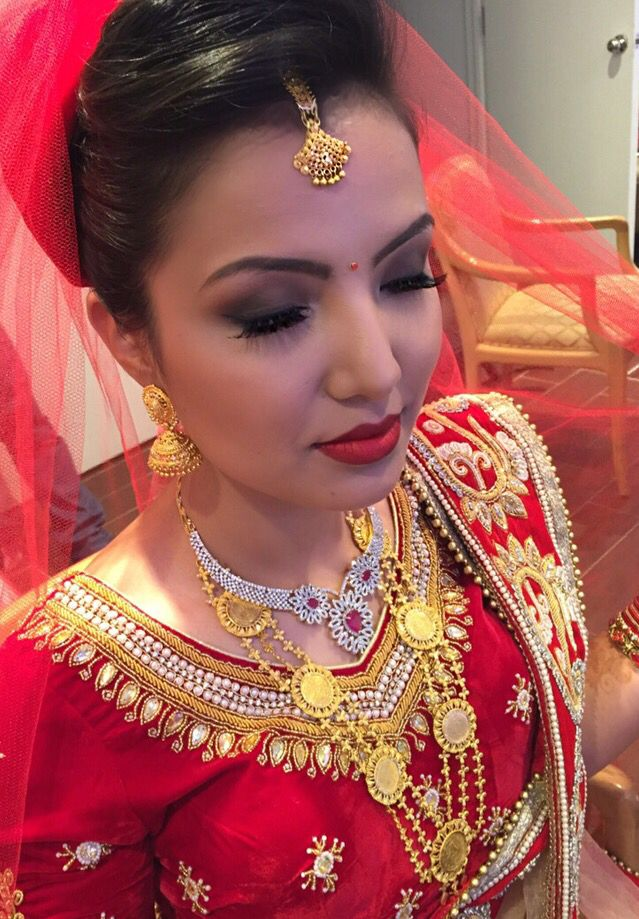 Nepali Bride Makeup Amp Hair By Dunia Ghabour Duniaghabour