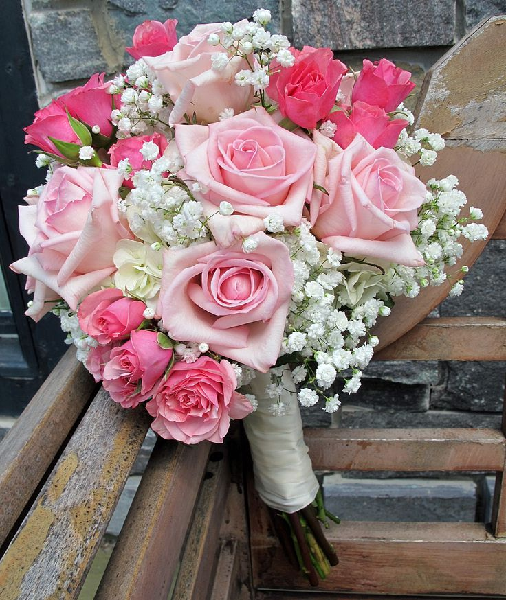 Pink Roses And Babys Breath Pinks Pinterest Pink