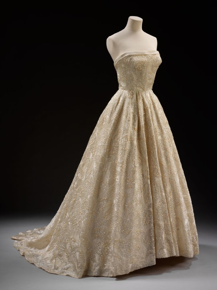 Evening dress by Givenchy Evening dress 'Les Muguets' (Lilies of the Valley) Designed by Hubert de Givenchy (born 1927) Paris,