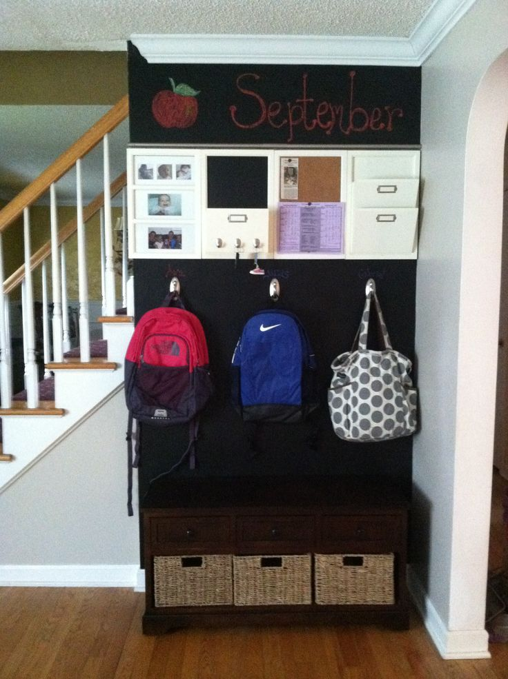 , backpacks, organization, chalkboard paint, back to