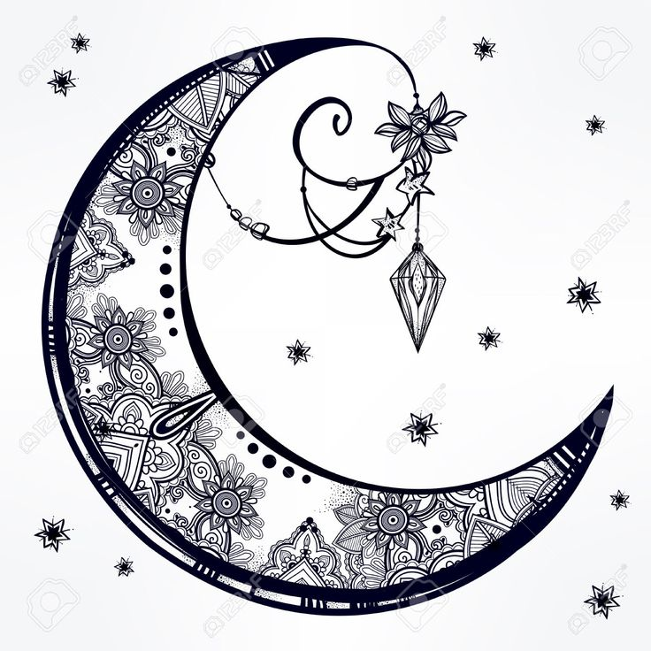25 Best Crescent Moon Tattoos Ideas On Pinterest Moon