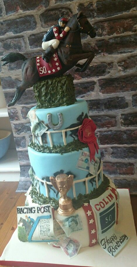 44 Best Images About Horse Racing Cakes On Pinterest