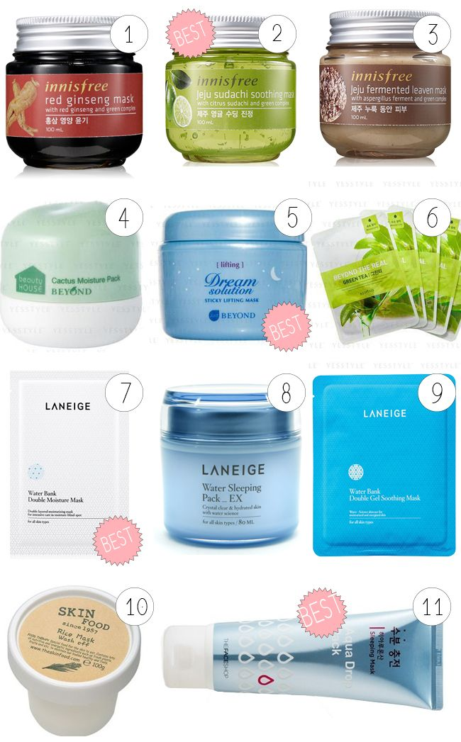 the best korean products for dry / sensitive skins K