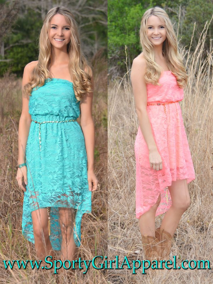 Sporty Girl Apparel Western Lace Hi Low Country Girl