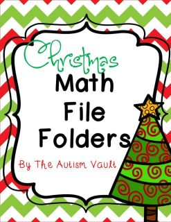 Christmas Math File Folders: