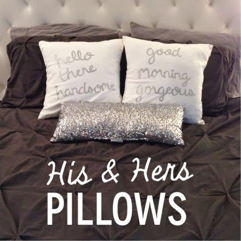 Home Chic House DIY His Amp Hers Throw Pillows DIY