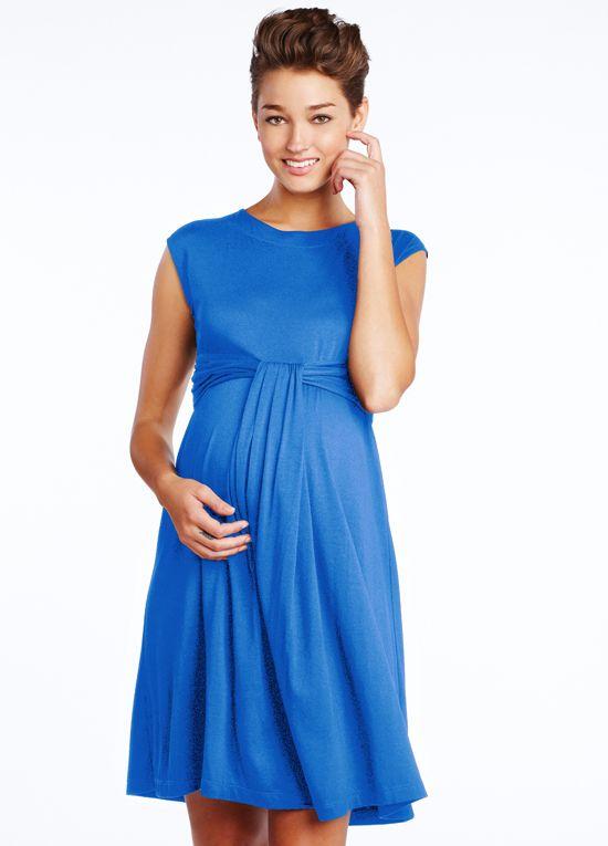 Maternal America   Cascade Dress In Royal Blue