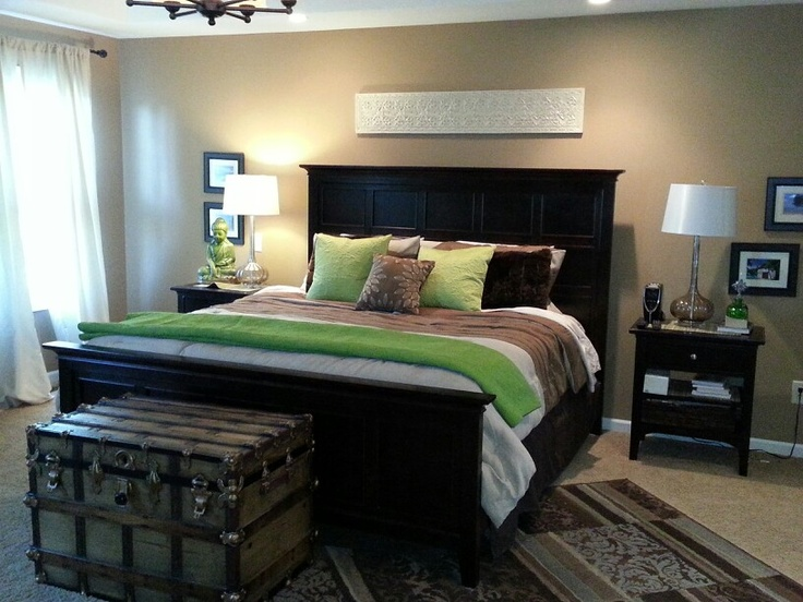 I Added Green Pillows And Throw From Home Goods Tan Brown