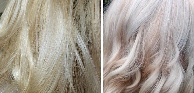 Before And After Using Evos Fabuloso Platinum Blonde