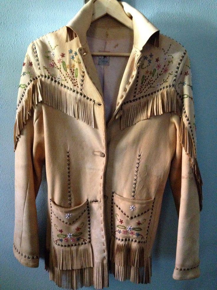 Vintage Nez Perce // Native American Leather Beaded Jacket