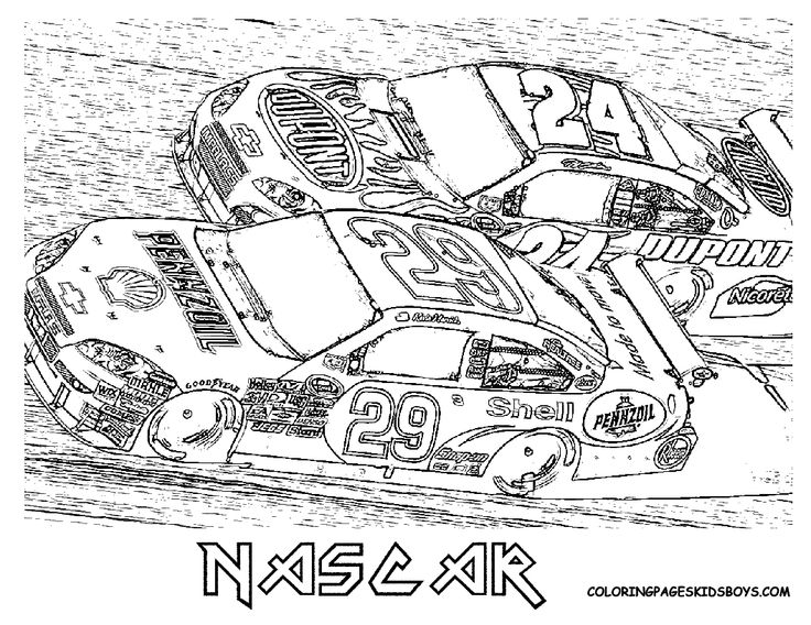 nascar coloring pages Free NASCAR Coloring Pages The