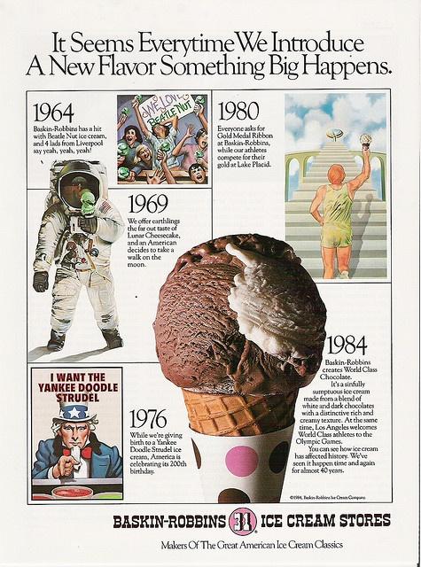 BaskinRobbins 31 Flavors Ice Cream 1984 Olympics ad Ads