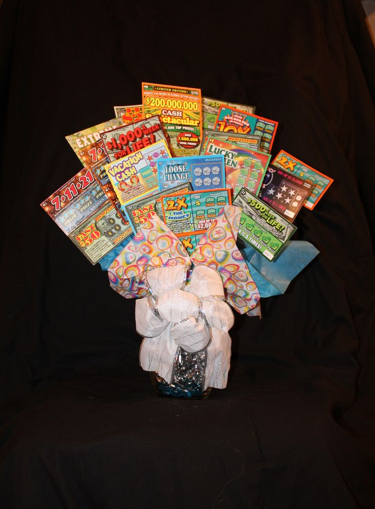 Lottery Bouquet Vase Full Of Lottery Tickets Lottery