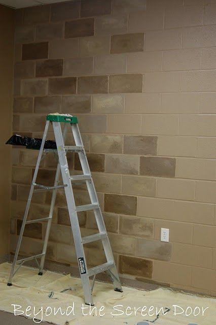 Terrific Idea to fix up that cinder block basement! – super cool!
