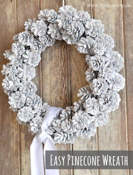DIY Pinecone Wreath Easy Diy Pinecone Wreath Great