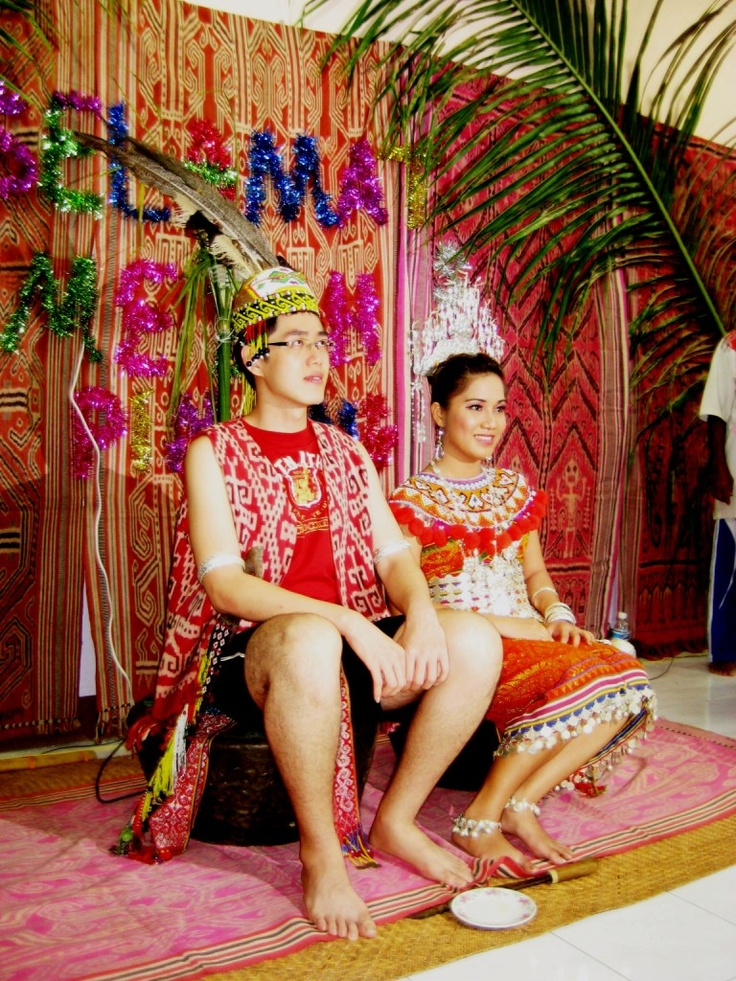 Iban wedding. The Ibans are native people of Borneo