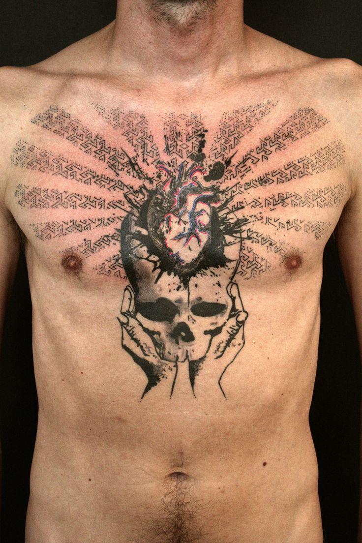 "Skull Heart Hands Tattoo by Thomas Storm ""Sort Tattoo"