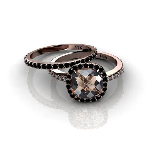 17 non traditional black engagement rings via brit co rose gold ring with - Non Traditional Wedding Rings