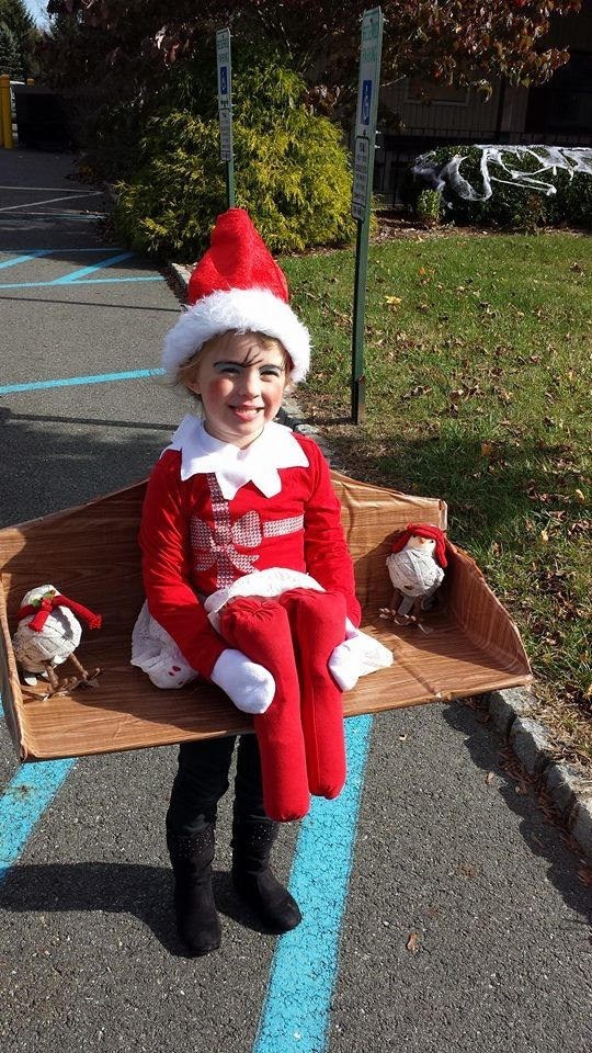 Elf on the Shelf Costume I made the shelf in less than an