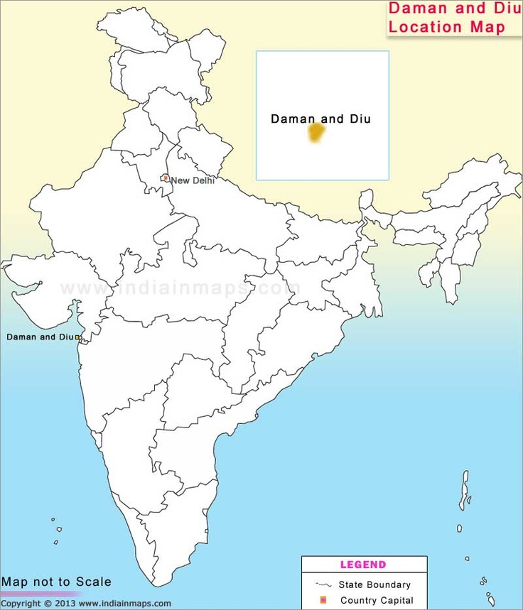 Daman and Diu Location Map Location Map of Indian States