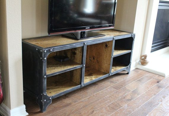 Media Console TV Stand Industrial Style Console Tv