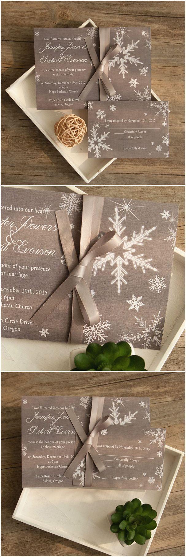 Vintage Winter Wedding Invitations PaperInvite