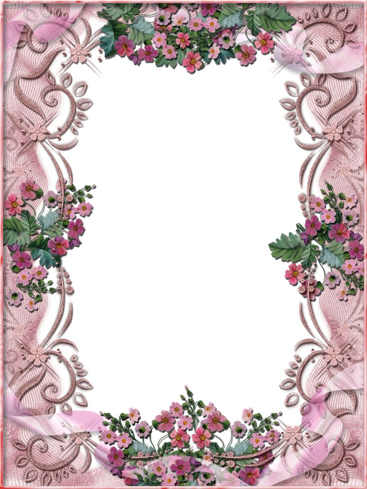free flower frame for my picture download Tiki's Pink