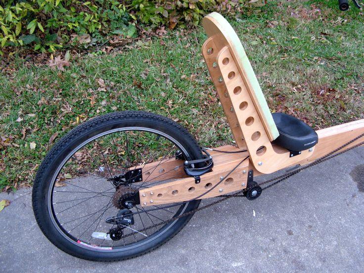 Plywood Frame Recumbent bike wood Pinterest
