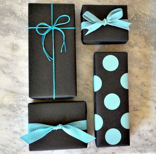 simple black wrap from paper and present via all things paper:
