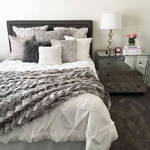 Find This Pin And More On Decor White Comforter With Gray