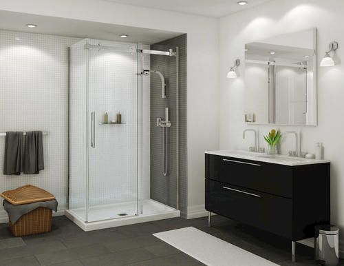48 Halo Corner Shower Kit With Door And Base At Menards