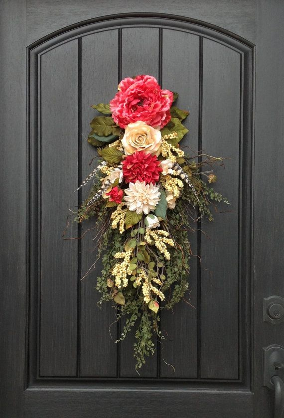 25 Best Ideas About Floral Swags On Pinterest Door Swag