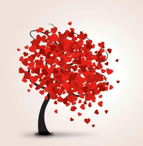 Wind Blown Heart Tree Source Unknown Valentine