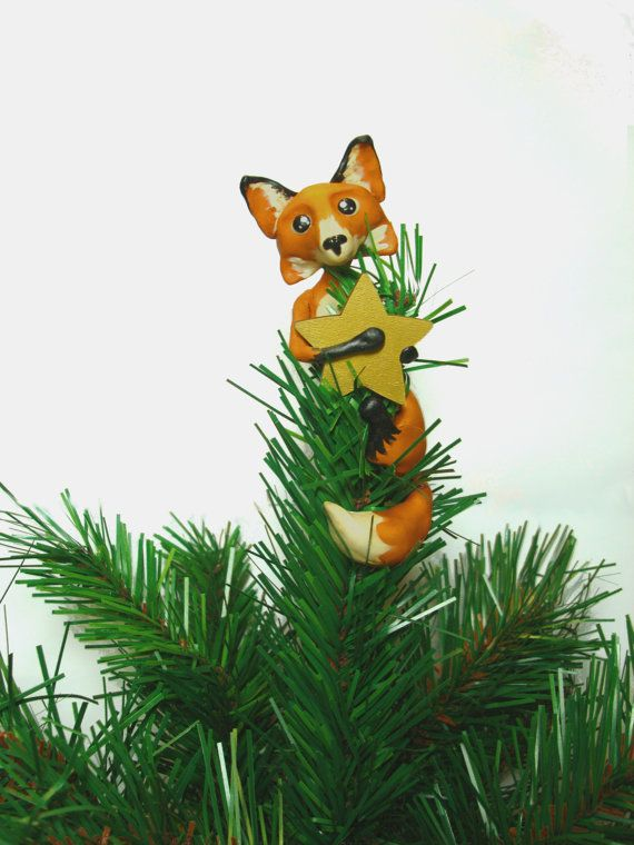 Custom Fox Christmas Tree Topper By LittleBerties On Etsy