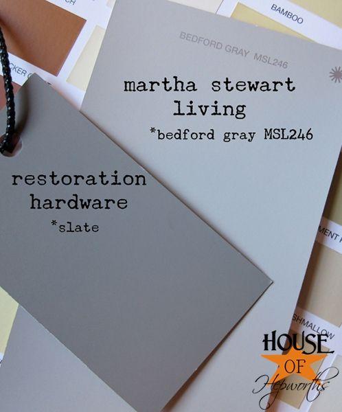 Holy Gray Restoration Hardware Slate Martha Stewart