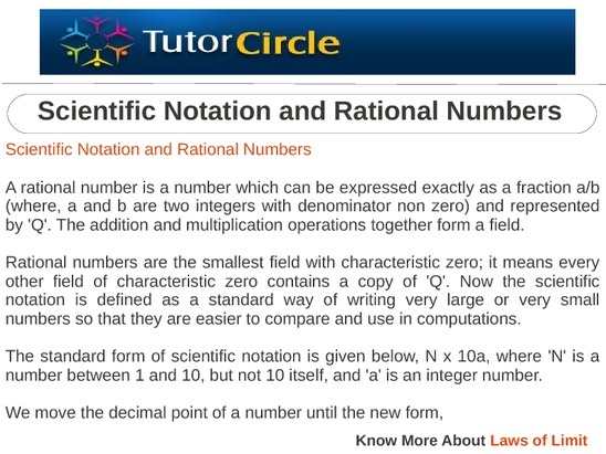 A rational number is a number which can be expressed