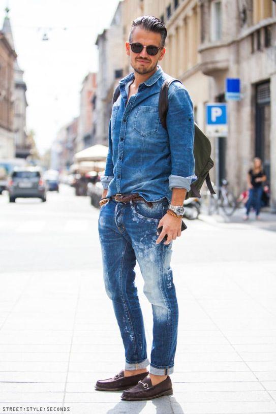 Image result for men street style in blue