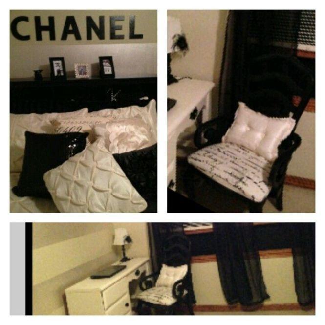 Cream Black Chanel Room