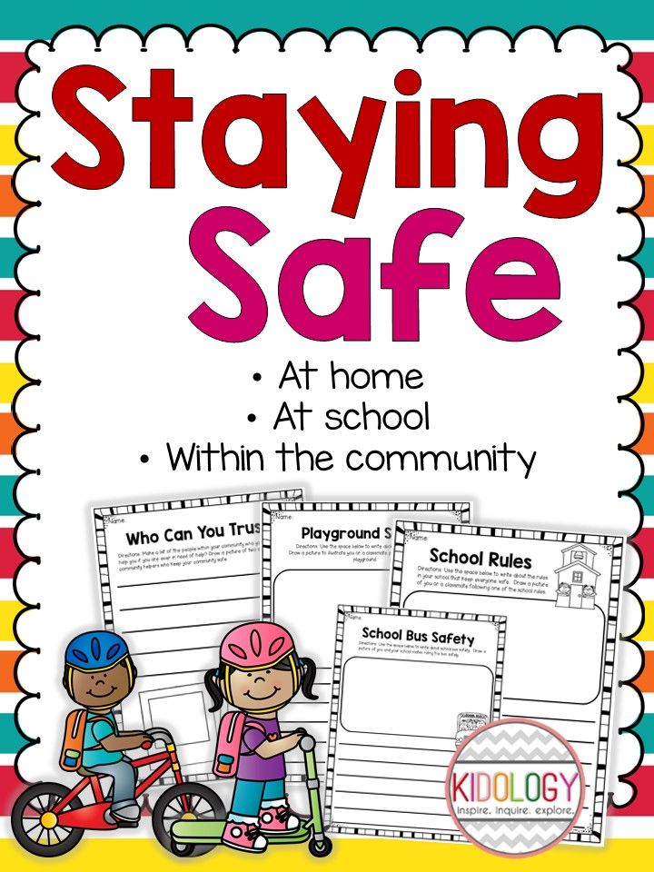 Safety at school, at home or in the community. These print