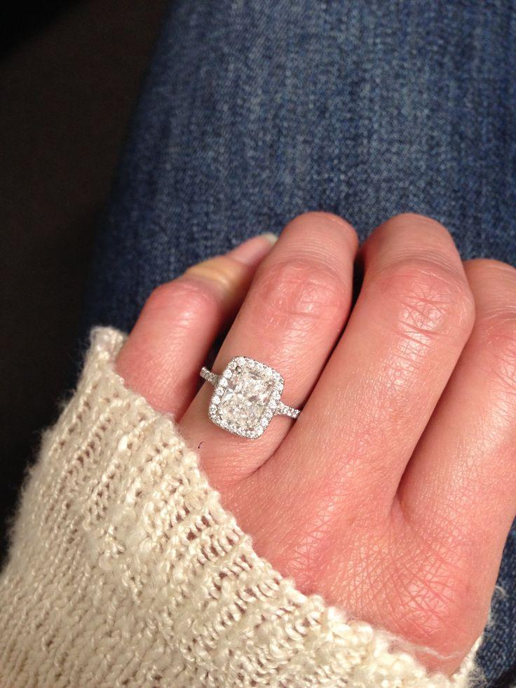 Perfection Radiant Cut Engagement Ring Halo Cushion