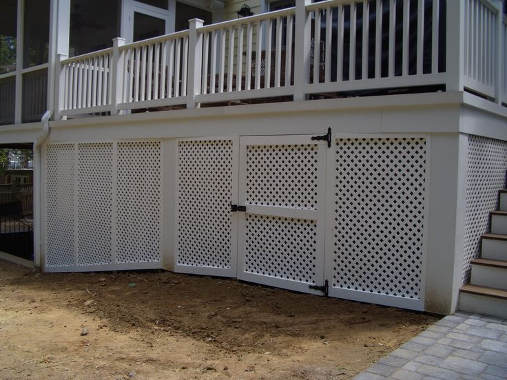Vinyl Privacy Lattice Screen Under Deck Wgate Outdoor